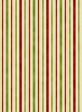 Hampton stripe red & green