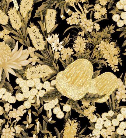 UTAS floral gold