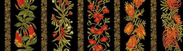 UTAS floral stripe black