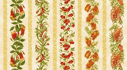 UTAS floral stripe ivory