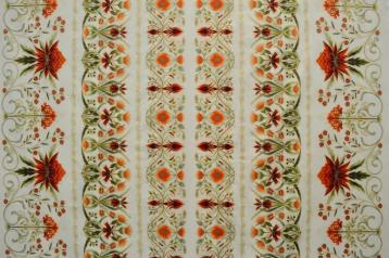 Melba border print cream