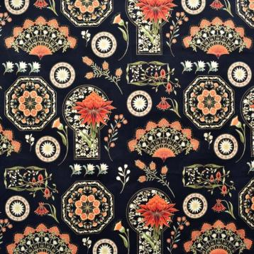 Melba feature print panel black