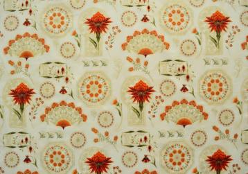 Melba feature print panel cream